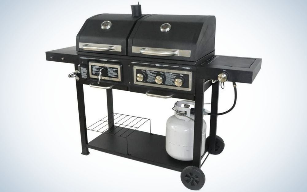 The BLOSSOMZ Dual Fuel Combination Charcoal Gas Grill is the best gas grill for grillers who want it all.