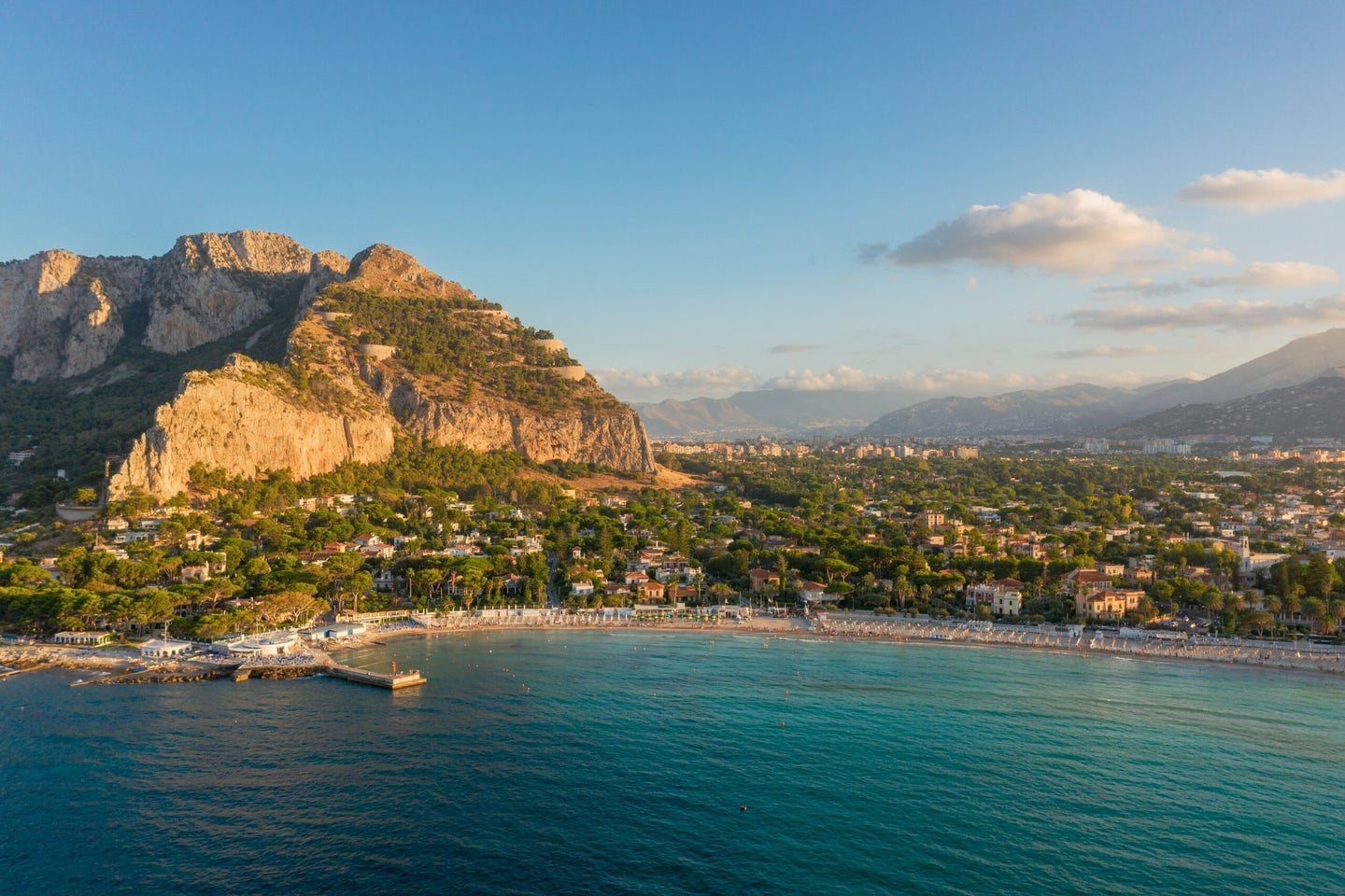 costal view of palermo, sicily