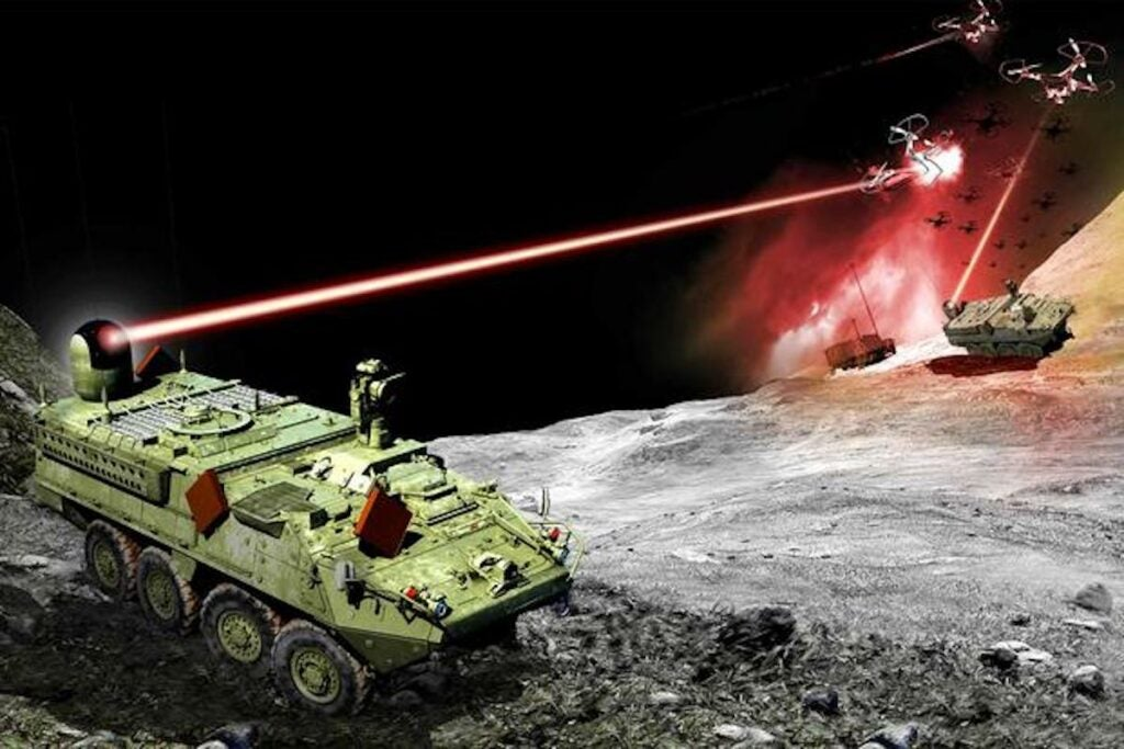 Laser battle with Strycker weapons developed for the U.S. Army