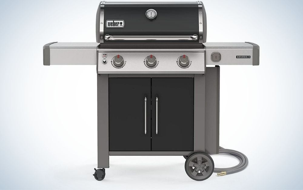 The Weber 66015001 Genesis II is the best gas grill for natural-gas homes.