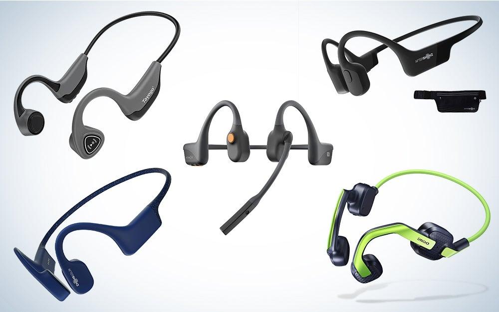 Bone-conduction headphones composite