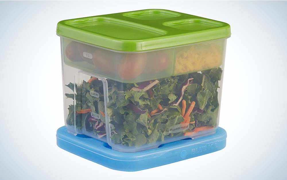 The Rubbermaid LunchBlox Salad Kit is the best lunch box for the office.
