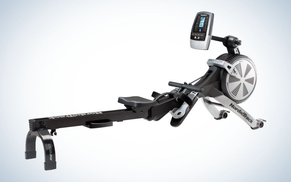 The NordicTrack RW200 is the best rowing machine.