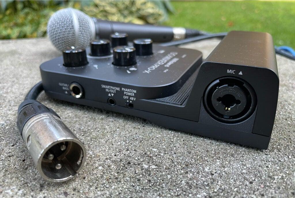 Roland GO:MIXER PRO-X XLR input