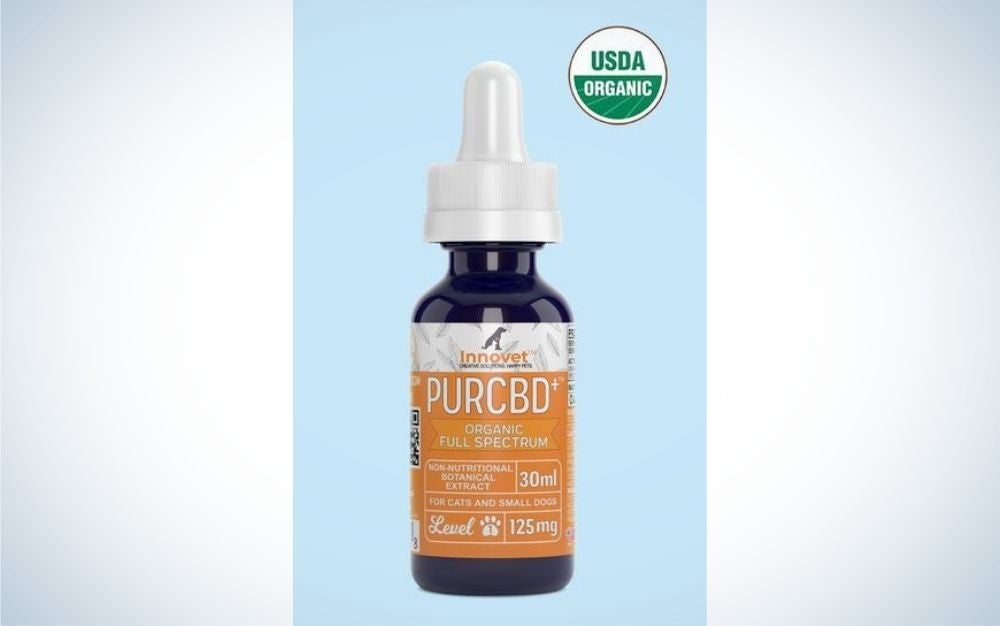 The Innovet Pet Organic Full-Spectrum CBD Oil for Dogs is one of the best CBD oils for dogs with cancer.
