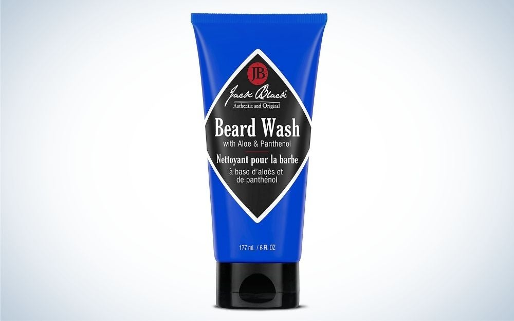 Jack Black Beard wash is the best beard product for keeping whiskers clean.
