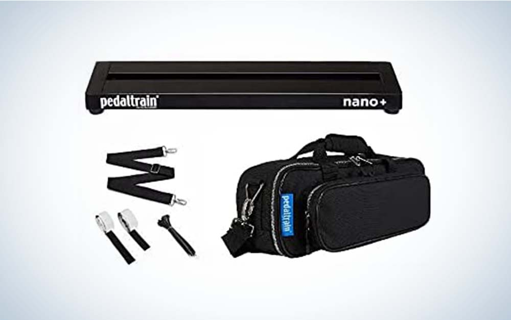 The Pedaltrain Nano+ is the best pedalboard that's small.