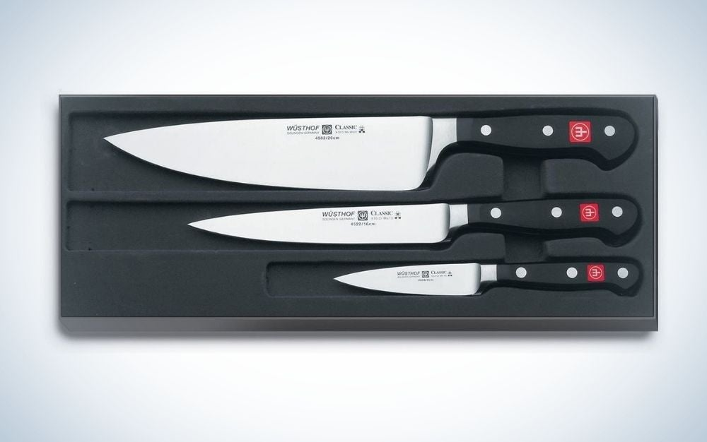 The Wüsthof Classic High Carbon Steel Chef's Knife Set is the best carbon-steel knife.