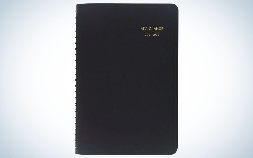 The At-A-Glance Daily Appointment Book and Planner is the best academic planner.