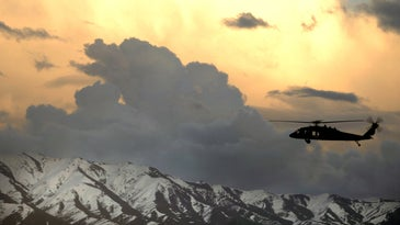 UH-60 Black Hawk army helicopter in Afghanistan