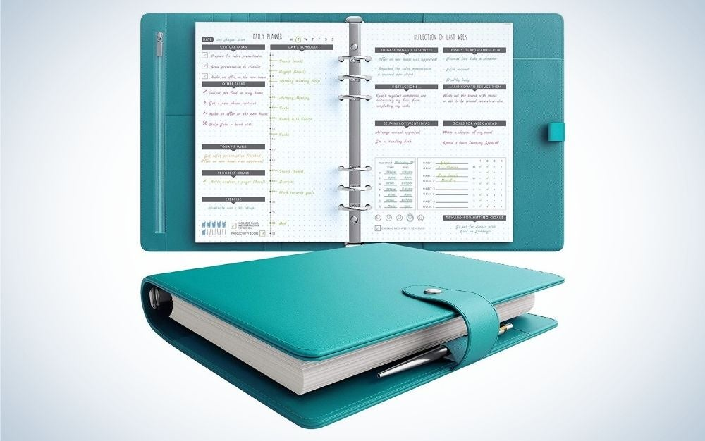 The LUX Productivity PRO A5 Planner is the best binder-style planner.