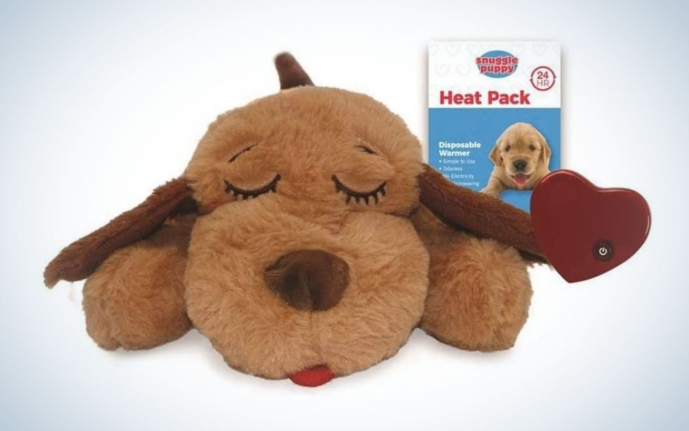 The Smart Pet Love Snuggle Puppy Behavioral Aid Dog Toy is the best comfort dog toy.