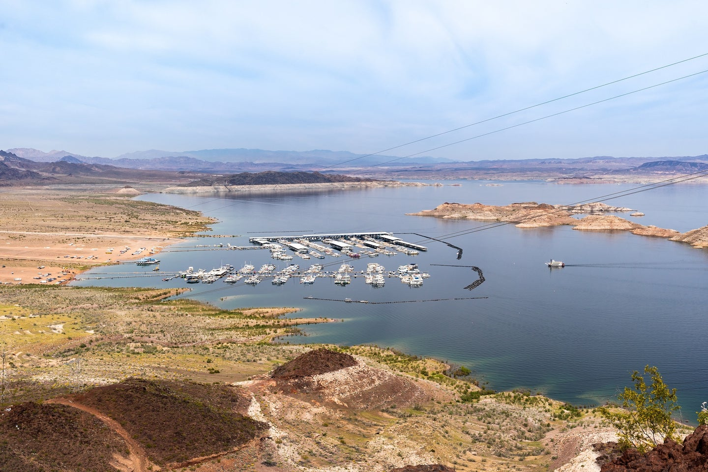 Lake Mead low water levels on the Colorado River