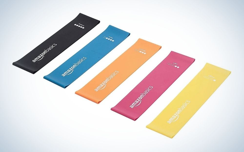 Amazon Basics Latex Resistance Bands Set is the best resistance bands on a budget.