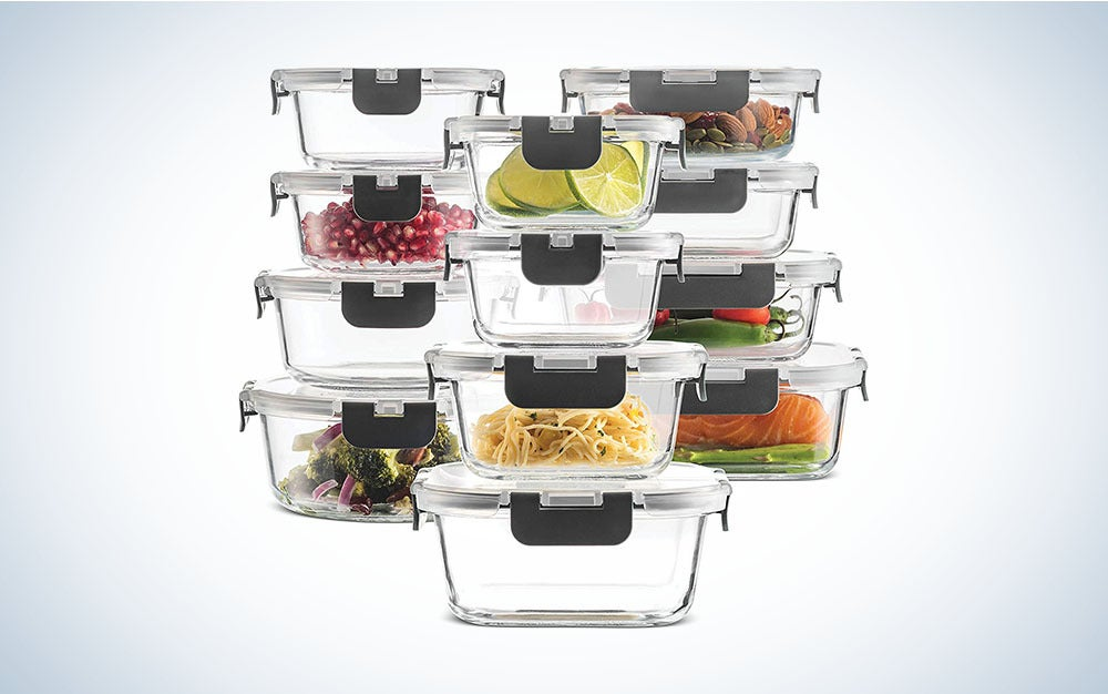 The FineDine 24-Piece Superior Glass Food Storage Containers Set is the best glass food container set.