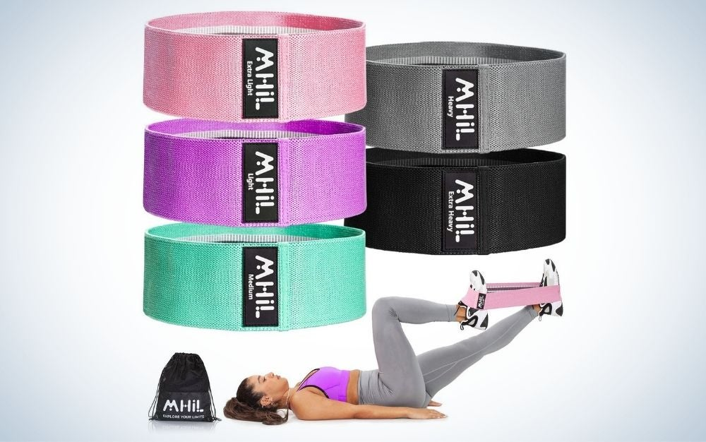 The MhIL Resistance Bands Set are the best resistance bands with fabric.