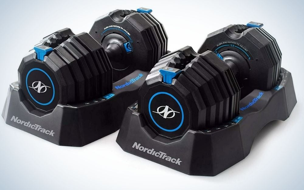 NordicTrack Speed Weights are the best overall adjustable dumbbells.