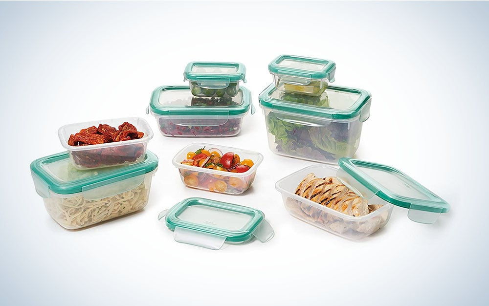 The OXO Good Grips Smart Seal Leakproof Plastic Food Storage Container Set is the best plastic food container set.
