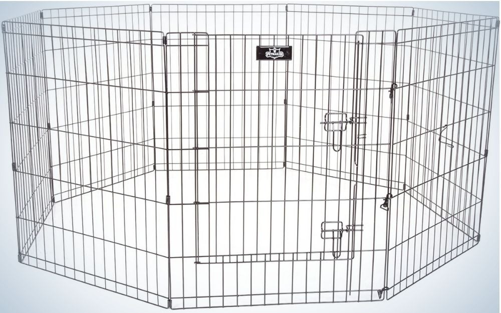 The Petmaker Exercise Playpen is the best dog pen on a budget.