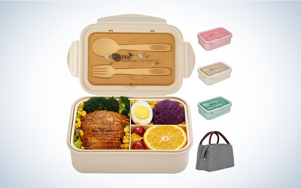 The Porzu Bento Lunch Box is the best portable food container.