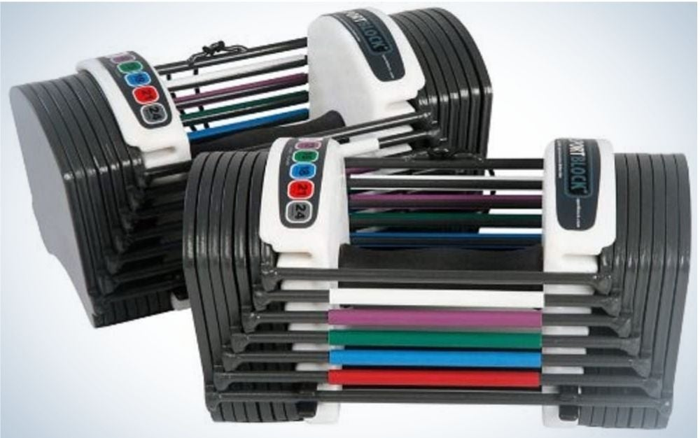 The PowerBlock Sport 24 Adjustable Dumbbells are the best for beginners.
