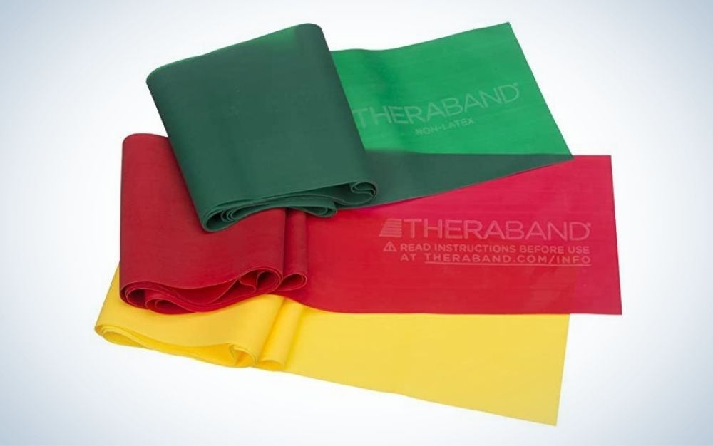 The Therabrand Latex Beginner Set contains the best resistance bands for beginners.
