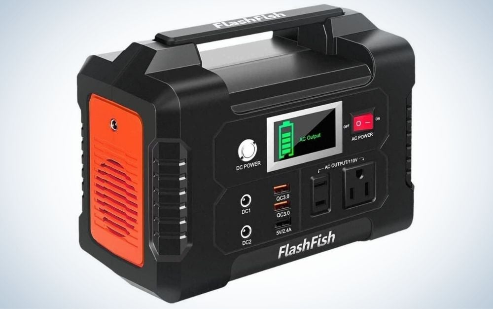 The Flashfish Portable Power Station is the best electric generator for CPAP machines.