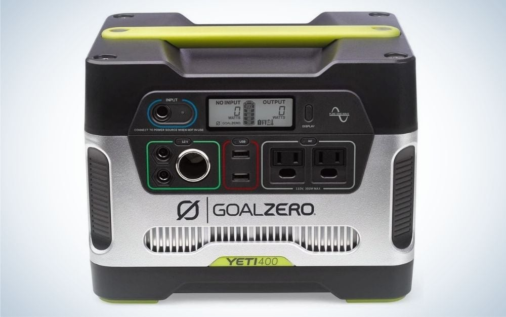 The Goal Zero Yeti 400 is the best electric generator for devices.