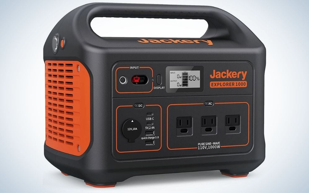 The Jackery Portable Power Station explorer 1000 is the best generator for overnight emergencies.