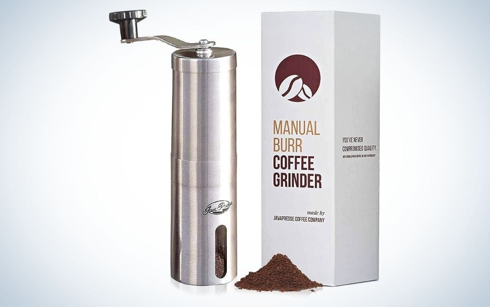 The JanaPress Manual Coffee Grinder is the best coffee grinder that's manuel.