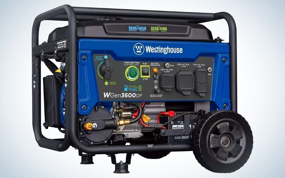 The Westinghouse Outdoor Portable Generator is the best electric generator for RVs.