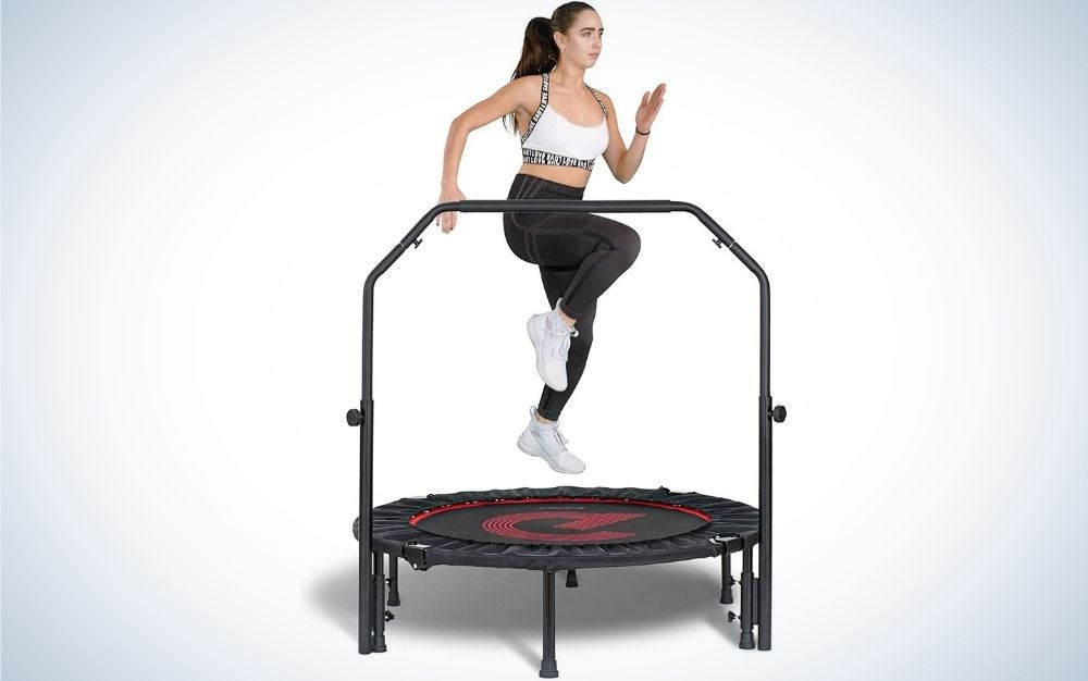 The Pelpo Folding Mini Trampoline is the best exercise trampoline.