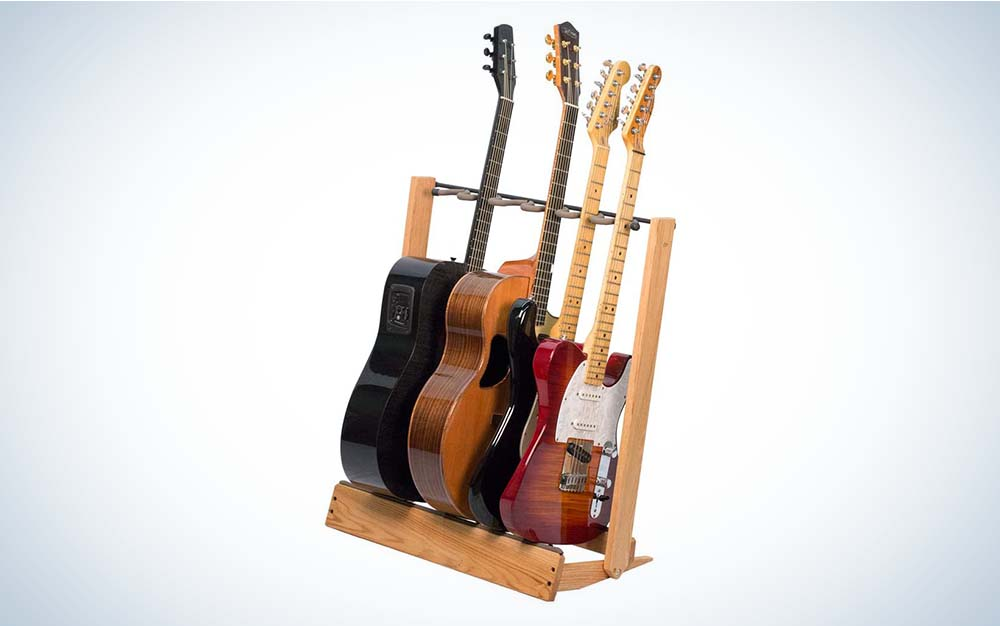 String Swing Guitar Stand is the best guitar stand for multiples.