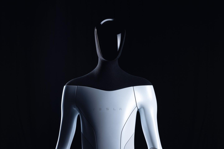 Tesla's mockup for its future robots.