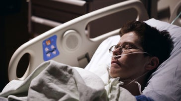 ICU patient recovering from surgery