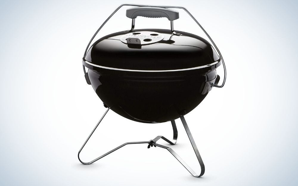 The Weber Smokey Joe Premium us the best portable grill for chefs on a budget.