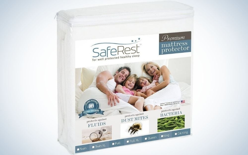 SafeRest is our pick for the best mattress topper.