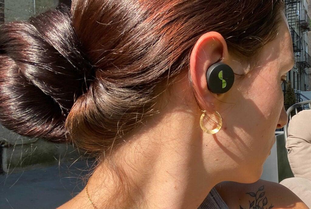 NuraTrue earbuds in ear