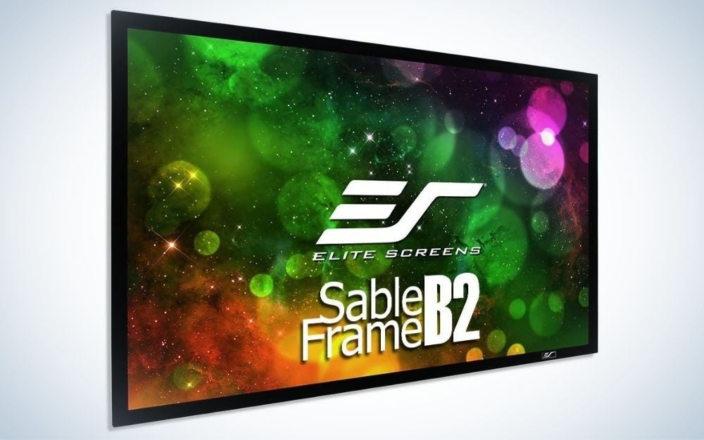 The Elite Screens Sable Frame is the best projector screen for movie buffs.