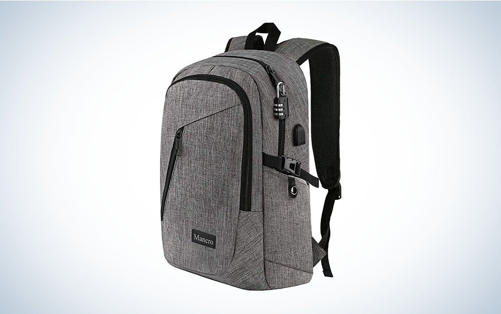 Mancro's Laptop Backpack is the best college backpack.