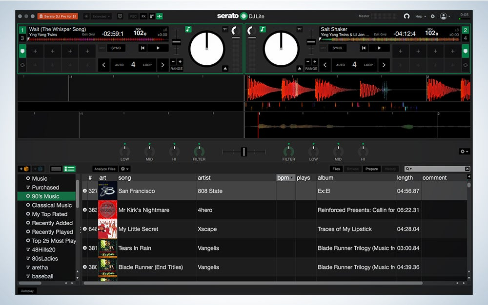 Serato DJ Lite is the best DJ software.