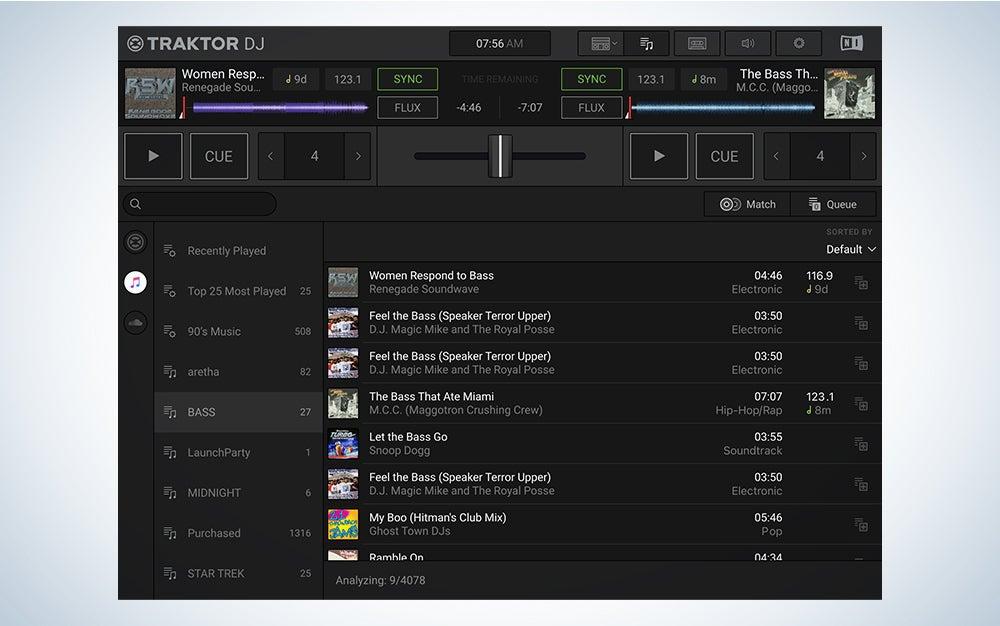 Traktor DJ is the best DJ software.