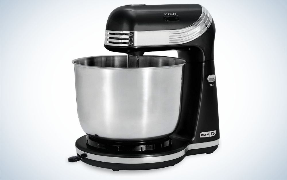 The Dash Stand Mixer is the best stand mixer for a tight budget.