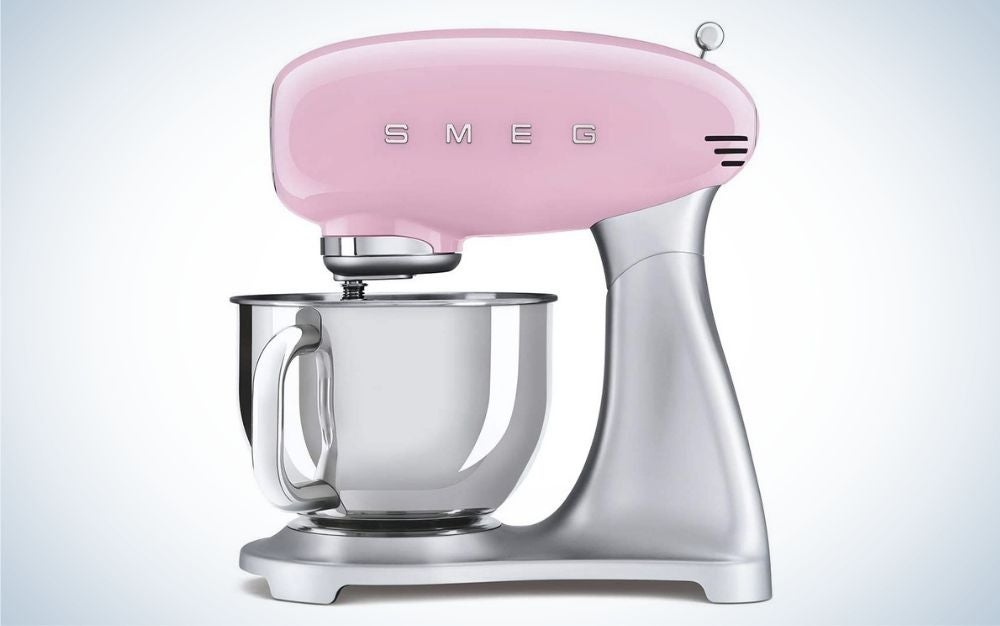 smeg pink is our pick for the best stand mixer