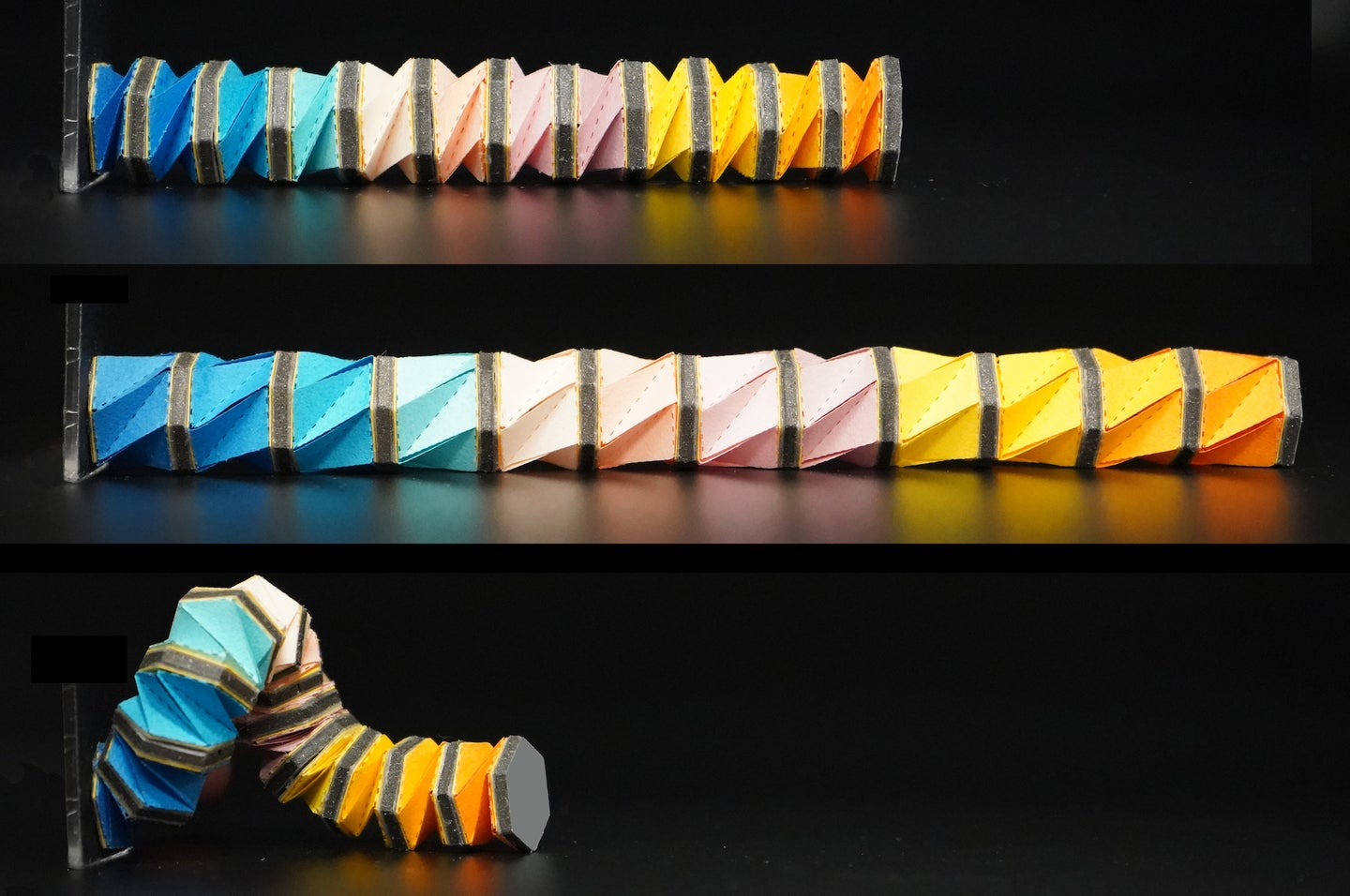 Origami and octopus inspired robo-arms could one day be used to navigate our body cavities.