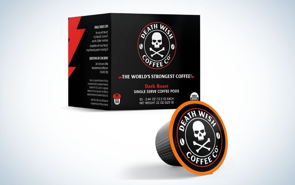 Death Wish is the best K Cup Coffee.