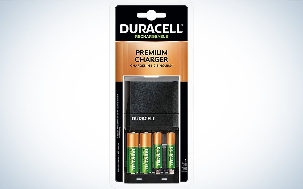 Duracell rechargeable batteries product card