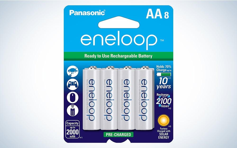 Panasonic eneloop rechargeable batteries product card