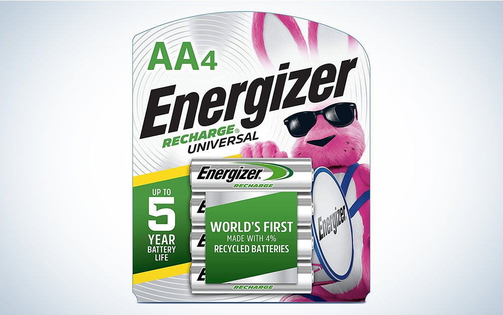 Energizer Universal Rechargeable AA batteries product card
