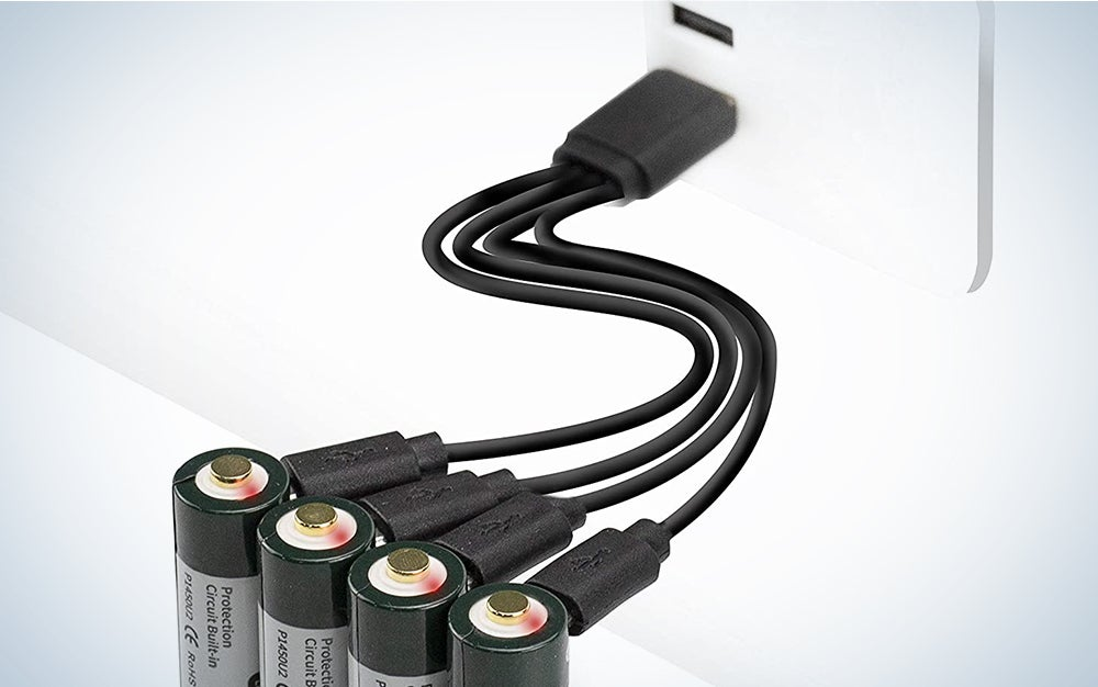 Keeppower USB rechargeable batteries product card